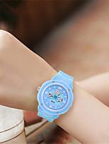 Mujer Reloj de Moda Reloj digital Digital Caucho Banda Azul Rosa Morado Rose