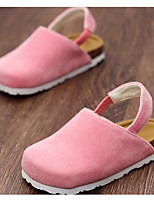 Girls' Shoes Nubuck leather Spring Fall Comfort Clogs & Mules For Casual Blushing Pink Brown Black