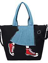 Women Bags All Seasons Canvas Tote Pattern / Print for Shopping Casual Blue Black Army Green