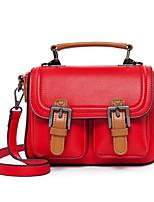 Women Bags PU Shoulder Bag Zipper for Casual All Seasons Black Red Gray