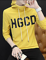 Men's Going out Hoodie Color Block Letter Hooded Micro-elastic Others Long Sleeve Spring Fall