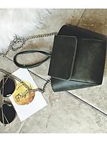 Women Bags PU Shoulder Bag Zipper for Casual All Seasons Black Dark Green