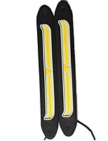 2pcs COB Car-styling Double Color Lights LED Car DRL Daytime Running light Flexible Super Bright Bendable Reversing Lamp DC12V