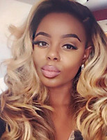 Women Human Hair Lace Wig Brazilian Human Hair Lace Front 130% Density Layered Haircut With Baby Hair Deep Wave Wig Black