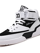 Men's Shoes PU Spring Fall Comfort Sneakers Lace-up For Casual Black Black/White White/Blue