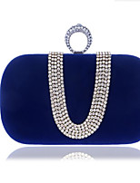 Women Bags All Seasons Polyester Clutch Buttons for Casual Blue Black Purple