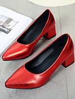 Women's Shoes PU Spring Fall Comfort Heels For Casual Red Gray Black