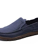 Men's Shoes PU Spring Fall Moccasin Light Soles Loafers & Slip-Ons For Casual Khaki Blue Light Grey