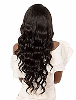 Women Human Hair Lace Wig Brazilian Remy Glueless Lace Front 180% 150% 130% Density With Baby Hair Body Wave Wig Medium Brown Dark Brown