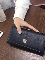 Women Bags PU Wallet Zipper for Casual All Seasons Blue Black Blushing Pink
