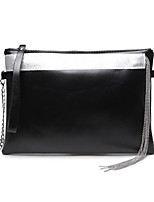 Women Bags All Seasons Cowhide Clutch Zipper for Event/Party Formal Black