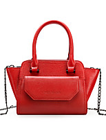 Women Bags All Seasons PU Tote Zipper for Shopping Casual Black Red Blushing Pink Gray