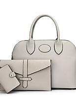 Women Bags All Seasons PU Bag Set 3 Pcs Purse Set Zipper for Shopping Casual Black Blushing Pink Gray Brown