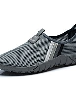 Men's Shoes Net Spring Fall Comfort Loafers & Slip-Ons For Casual Gray Black