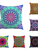 Set Of 6 Sandbeach Style Bohemian Geometry 45*45Cm Vintage Pillow Cover