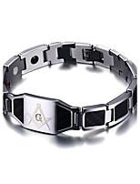 Homme Chaînes & Bracelets Bracelets en cuir Bijoux Fantaisie Acier inoxydable Bijoux Bijoux Pour Quotidien Décontracté