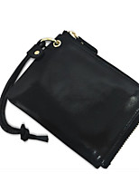 Women Bags All Seasons Cowhide Wallet Zipper for Event/Party Formal Black Yellow Wine