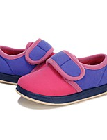 Girls' Shoes Fleece Spring Fall Comfort First Walkers Loafers & Slip-Ons Magic Tape Split Joint For Casual Light Purple