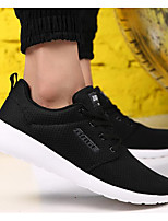 Men's Shoes Breathable Mesh Spring Fall Light Soles Sneakers For Casual Black Dark Blue Black/Red