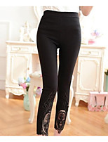 Women's Medium Lace Solid Color Legging,Solid