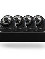 4CH 5-in-1 DVR Kits HD 4pcs IR Night Vision Dome CCTV Camera Security System Surveillance