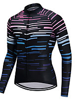 cheap -Cycling Jersey Men's Long Sleeves Bike Jersey High Elasticity Winter Mountain Cycling Road Cycling Cycling Bike Bike/Cycling Black