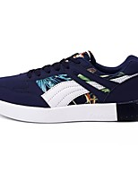 Men's Shoes Leatherette Spring Fall Comfort Sneakers Lace-up For Casual Black/Red Black/White Dark Blue