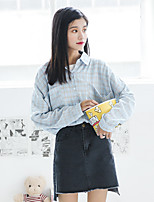 Camicia Da donna Casual Romantico Con stampe Colletto Cotone Manica lunga