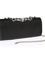 Women Bags All Seasons Polyester Evening Bag Crystal Detailing for Event/Party Formal Gold Black Silver Red Fuchsia