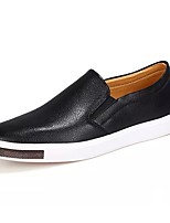 Men's Shoes PU Spring Fall Comfort Loafers & Slip-Ons For Casual Blue Black