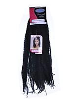 Afro Kinky Braids Hair Braid Afro Dreadlock Extensions 100% Kanekalon Hair Medium Brown Auburn Dark Wine Dark Auburn Medium Auburn 18