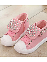 Girls' Shoes PU Spring Fall Comfort Sneakers For Casual Blushing Pink Red Beige