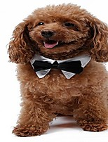 Cat Dog Tie/Bow Tie Dog Clothes Party Wedding Halloween Christmas Bowknot White/Black Costume For Pets