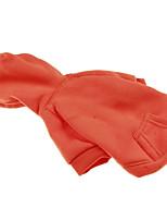 Cane Felpe con cappuccio Abbigliamento per cani Casual Tinta unita Nero Arancione Grigio Rosso