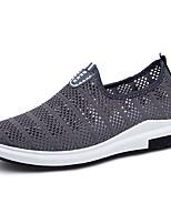 Для мужчин обувь Тюль Весна Осень Удобная обувь Мокасины и Свитер Назначение Повседневные Черный Серый Синий