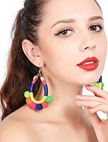 Women's Drop Earrings Hoop Earrings Tassel Sexy Plush Ball Jewelry For Party Christmas