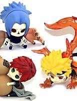 Figures Animé Action Inspiré par Naruto Sasuke Uchiha PVC 5-7 CM Jouets modèle Jouets DIY