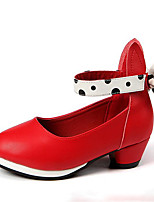 Girls' Shoes PU Spring Flower Girl Shoes Heels For Casual Red Black White