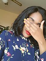 жен. Парики из натуральных волос на кружевной основе Бразильские волосы Натуральные волосы Бесклеевая кружевная лента 150% плотность