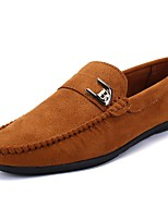 Men's Shoes Flocking Spring Fall Comfort Loafers & Slip-Ons For Casual Wine Brown Black