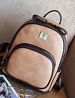 Women Bags All Seasons PU Backpack Zipper for Casual Office & Career Brown Black Gray Red Khaki