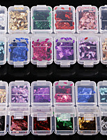 12 color Thin Section Laser The Horse Eye Sequins 1g/box
