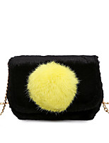Women Bags Fur Crossbody Bag Feathers / Fur for Event/Party Casual All Seasons Black Gray Green Khaki