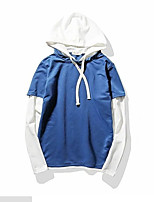 Men's Daily Casual Hoodie Solid Hooded Micro-elastic Others Long Sleeve Spring