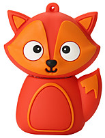 Cartoon Silicone Fox High Speed Shockproof 64GB USB 2.0 Flash Drive U Disk Memory Disk