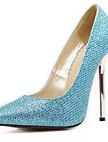 Women's Shoes Paillette Spring Summer Comfort Heels For Casual Party & Evening Blue Silver Gold