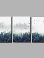 Stretched Canvas Print Rustic,Three Panels Canvas Horizontal Panoramic Print Wall Decor For Home Decoration