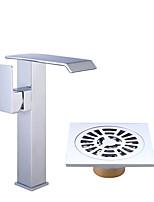 Centerset Ceramic Valve Electroplate , Bathroom Sink Faucet