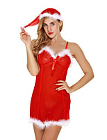 Women's Ultra Sexy Nightwear,Sexy Color Block-Thin Polyester