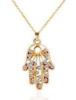 Femme Collier court /Ras-du-cou Pendentif de collier Colliers chaînes Strass Strass Alliage Bijoux Pour Soirée Anniversaire Quotidien